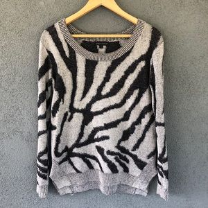 Jealous Tomato Animal Tiger Print Hi Lo Sweater
